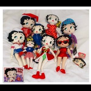 Betty BOOP Dolls Lot of 8 Betty Rag dolls NWT!